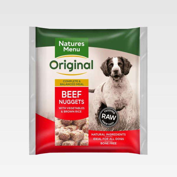 Natures Menu Nuggets Beef FOP