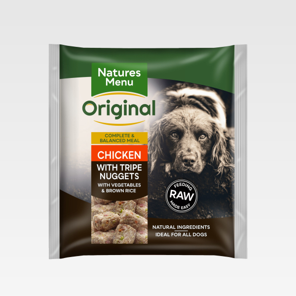 Natures Menu Nuggets Chicken With Tripe FOP