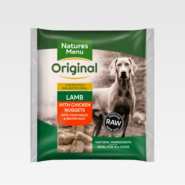 Natures Menu Nuggets Lamb With Chicken FOP